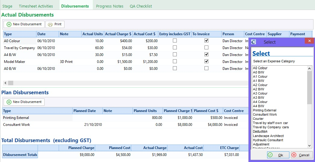 IT timesheets Expense management