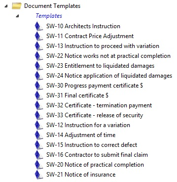 Documents workflow Templates